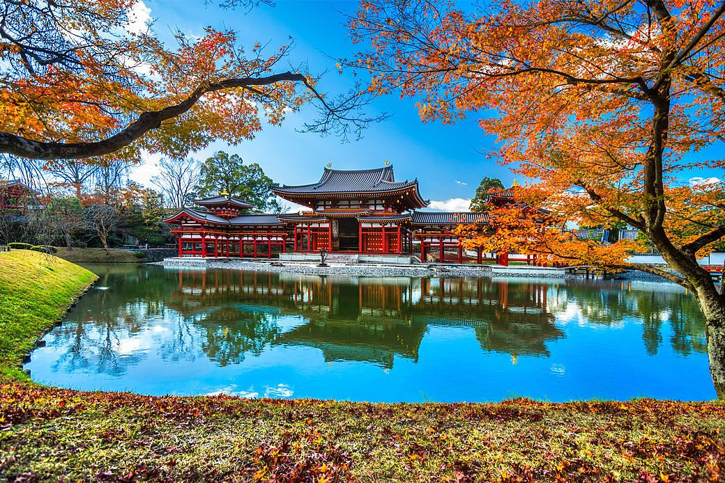 Temlo Byodo-in en Kyoto, antigua capital de Japón