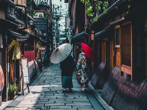 callejones de Kyoto, antigua capital de Japón