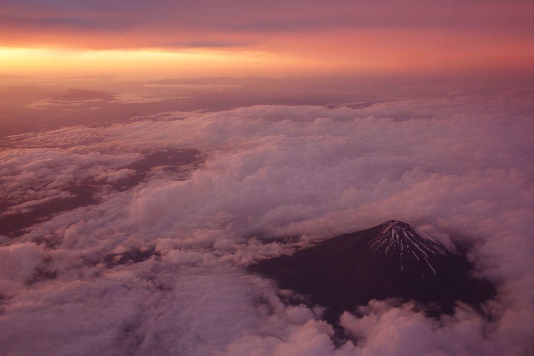 El Monte Fuji a vista de avión