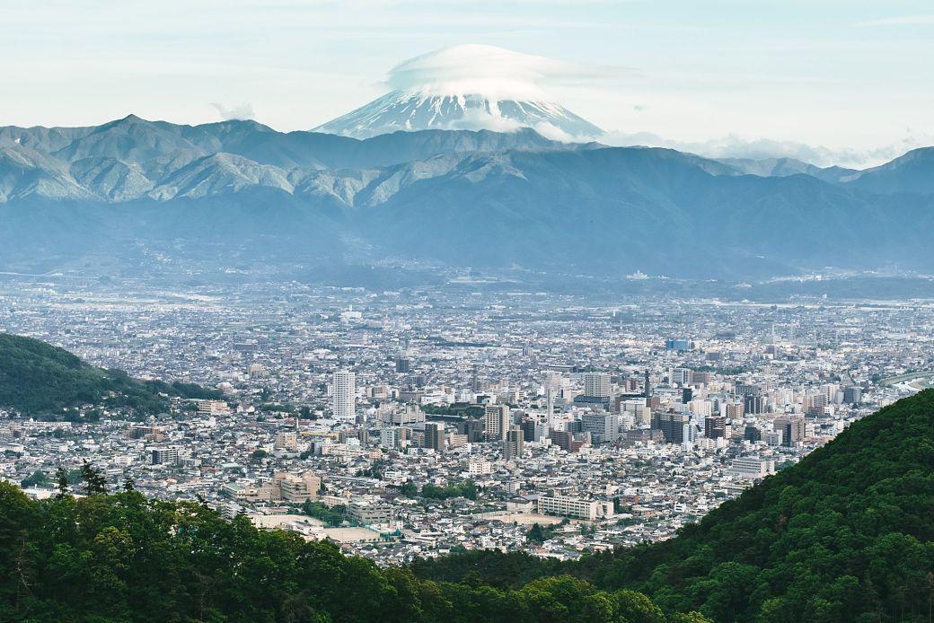 Vistas del Monte Fuji desde Kofu