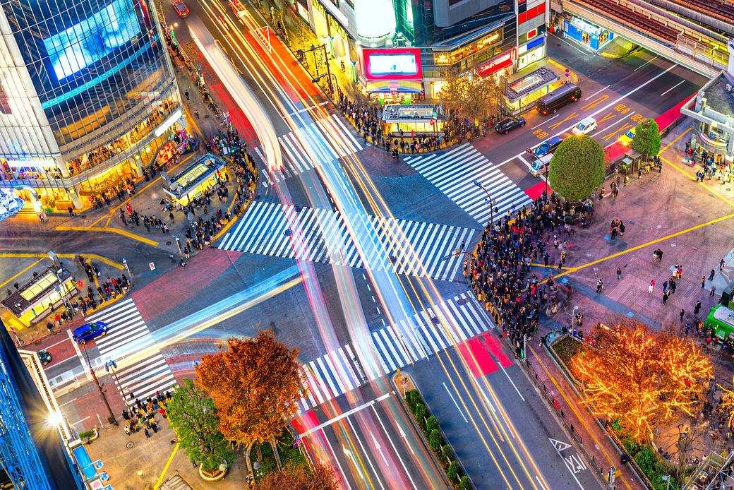 cruce de shibuya en Tokyo