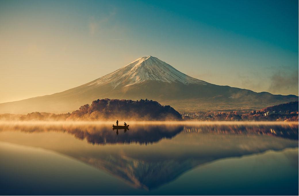 vistas Fuji san durante peregrinaje sankin kôtai