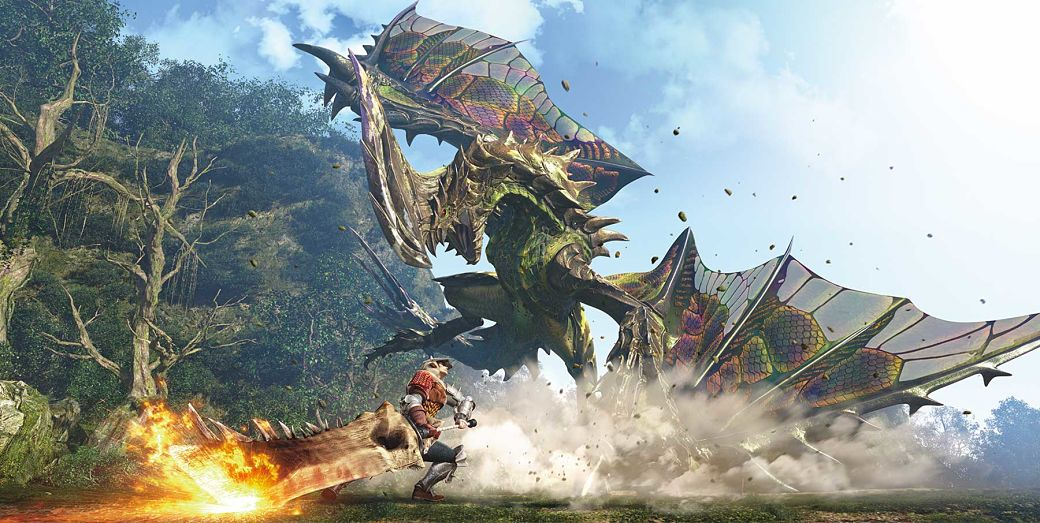 dragones en Monster Hunter World