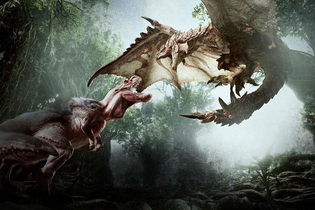 Lucha Anjanath yRathalos Monster Hunter World