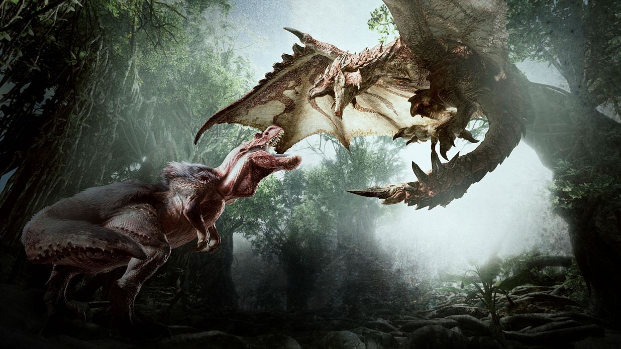 Lucha Anjanath yRathalos Monster Hunter World