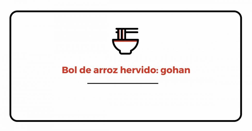 Bol arroz hervido gohan