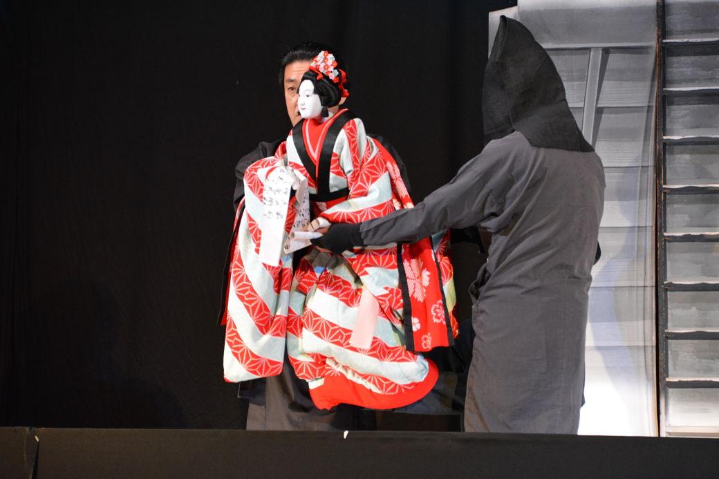 Marioneta teatro bunraku en Japón