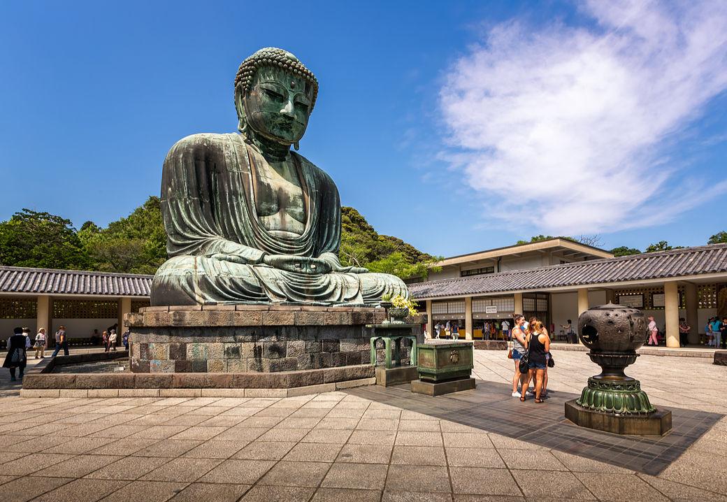 El Daibutsu o Gran Buda de Kamakura