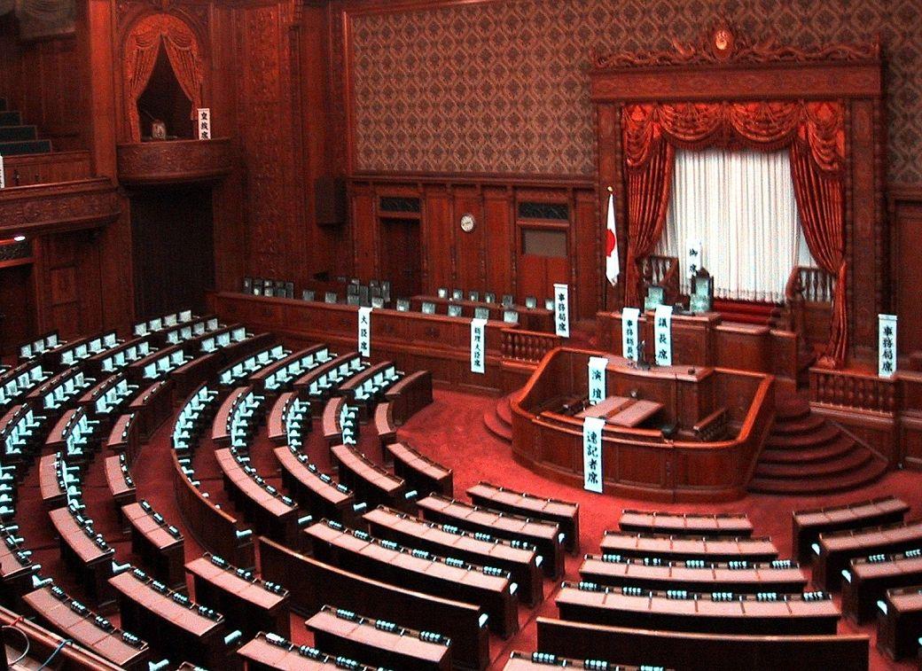 Partidos políticos japoneses, interior de la Dieta japonesa