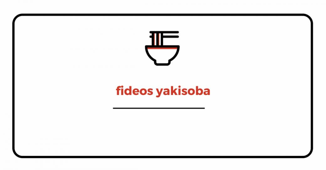 Fideos japoneses yakisoba