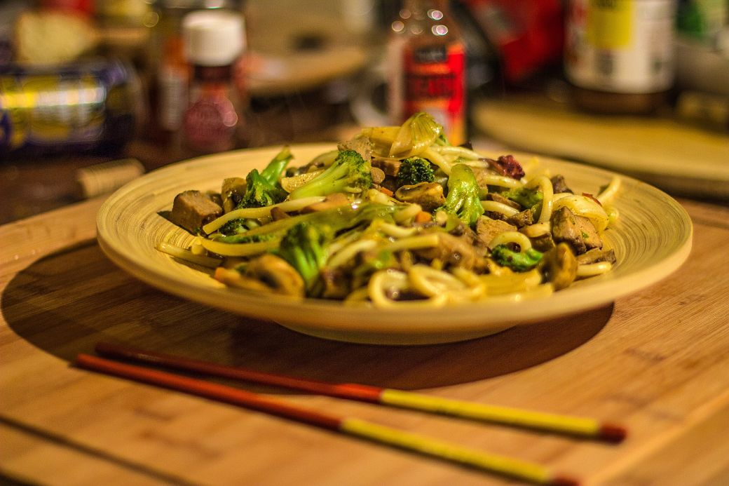 Fideos udon sencilla receta