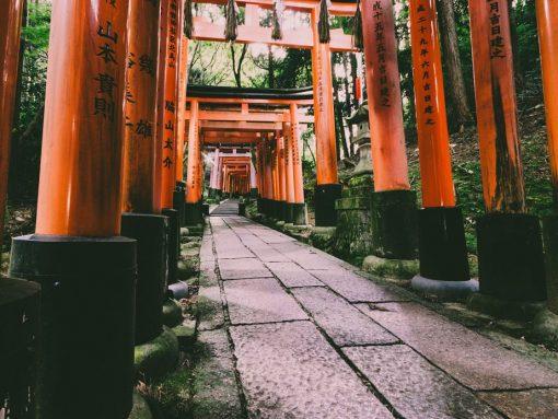 Templo de dioses japoneses Fushimi_inari en Kioto