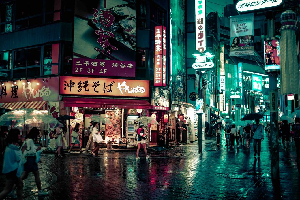 Día lluvioso en Japón