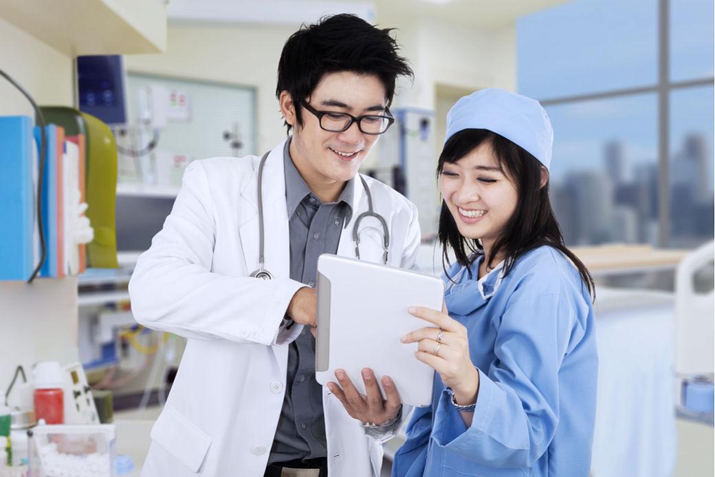 Médicos en hospitales de Japón