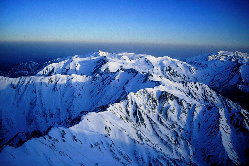 Montaña de Japón nevada