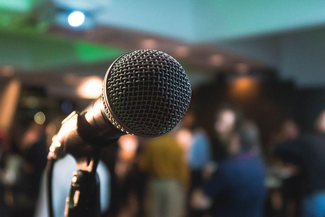 Micrófono karaoke en Japón