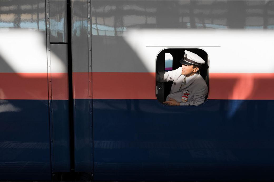Maquinista de tren en Japón