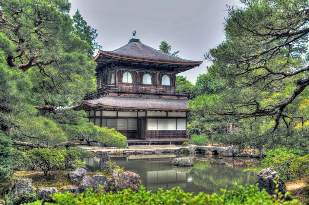Templo Ginkakuji o pabellón de plata en Kioto