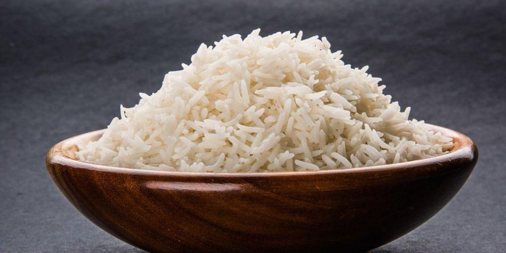 Bol de arroz blanco