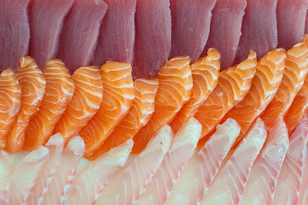 Diferentes tipos de sashimi