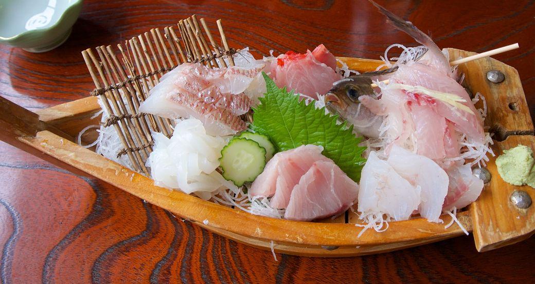 El sashimi una vez preparado