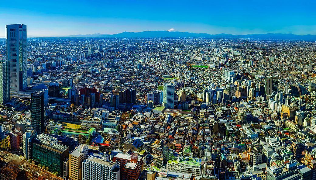 Paisaje soleado de Tokio