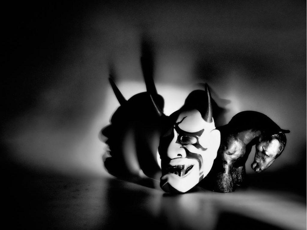 Máscara de teatro Noh y Kabuki