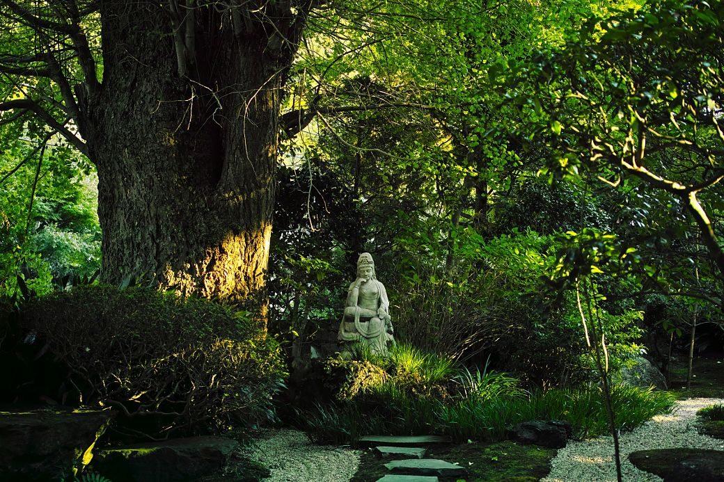 Templo budista en la ciudad de Kamakura, Japón