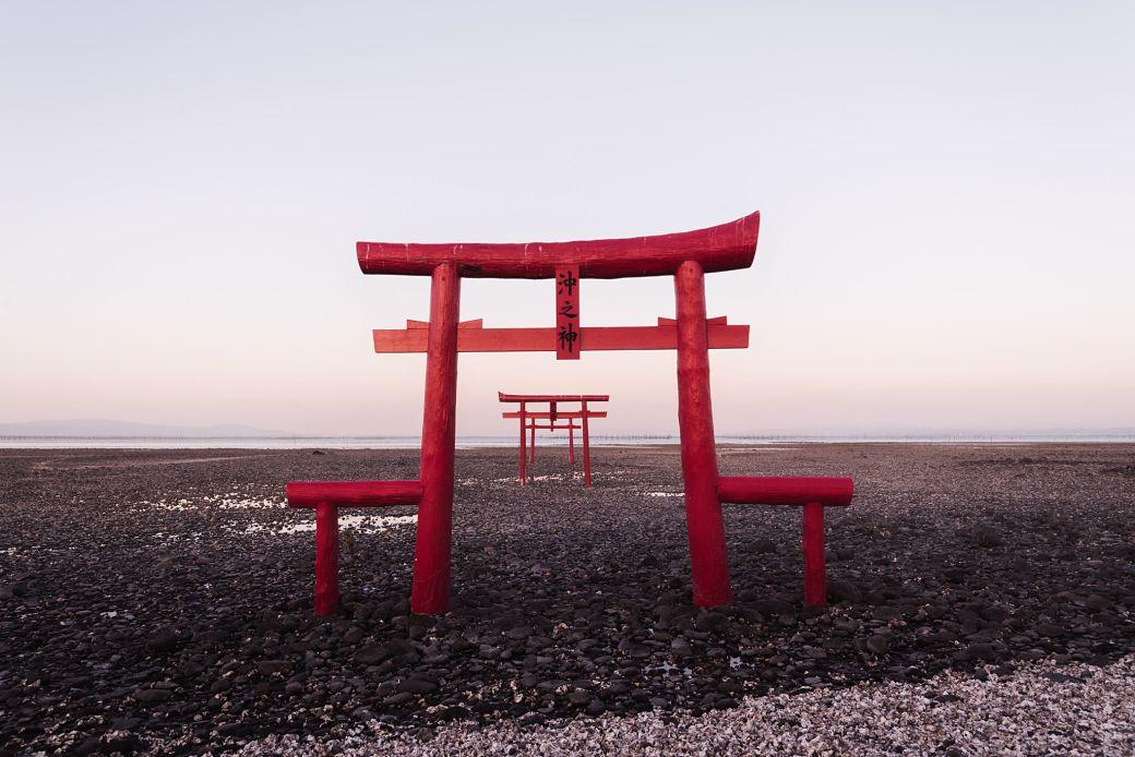 El torii o entrada a los templos en Japón dedicados al sintoísmo