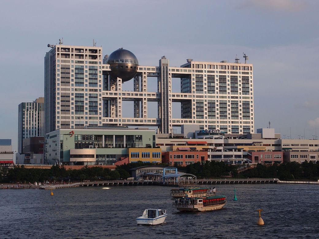 Arquitectura de Tokio, edificio de la Fuji TV en Odaiba