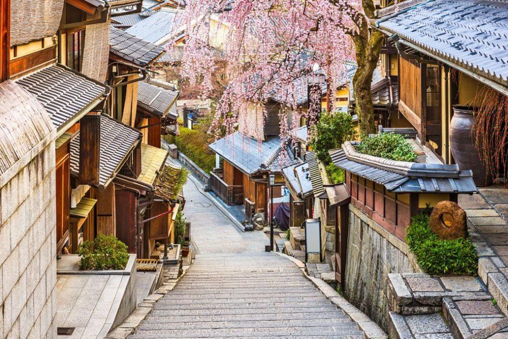 Barrio de Gion en Kioto, Japón