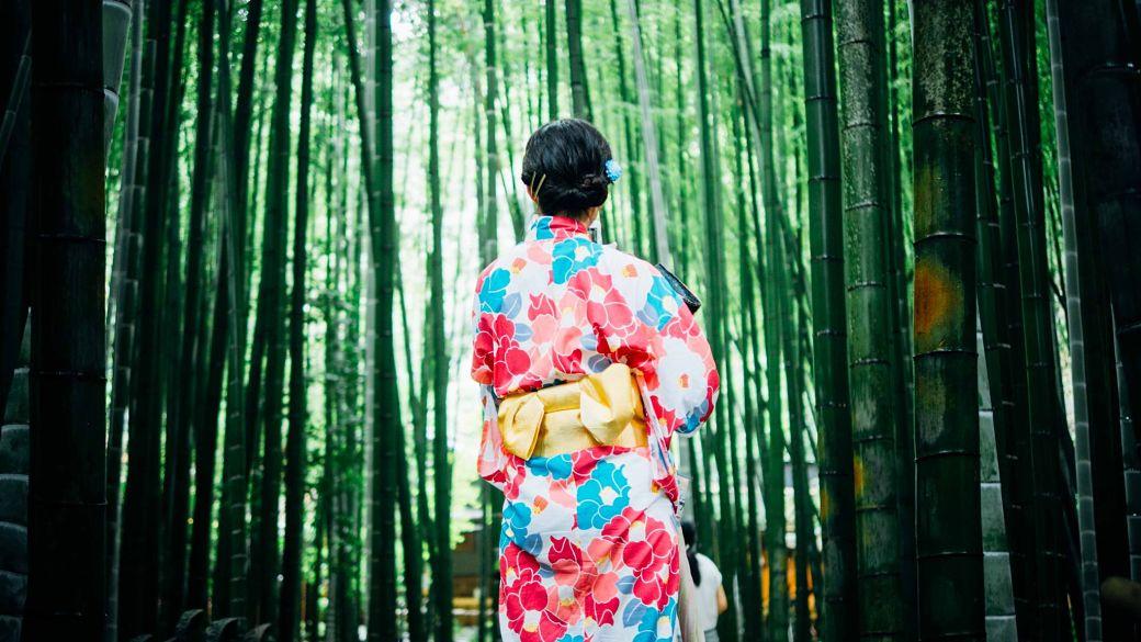 Bosque de bambú en Arashiyama, Kioto