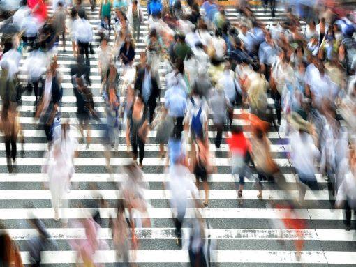 Japoneses en un cruce