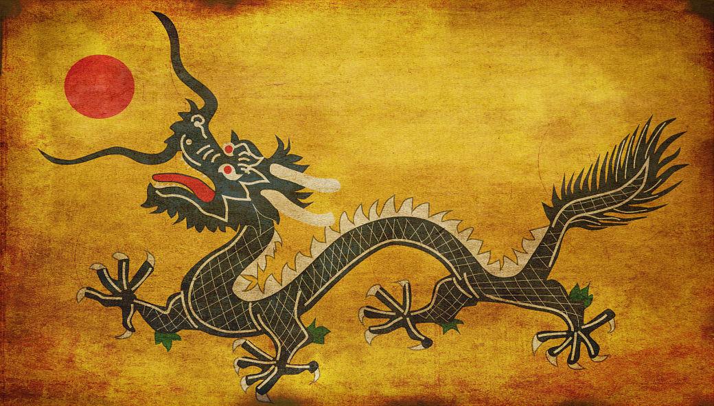 Pintura de dragón japonés