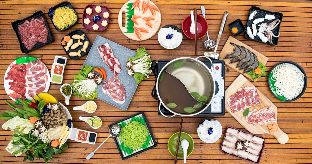 Ingredientes para preparar shabu shabu
