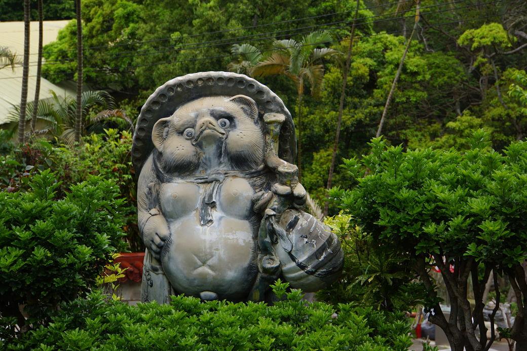 Estatua de tanuki