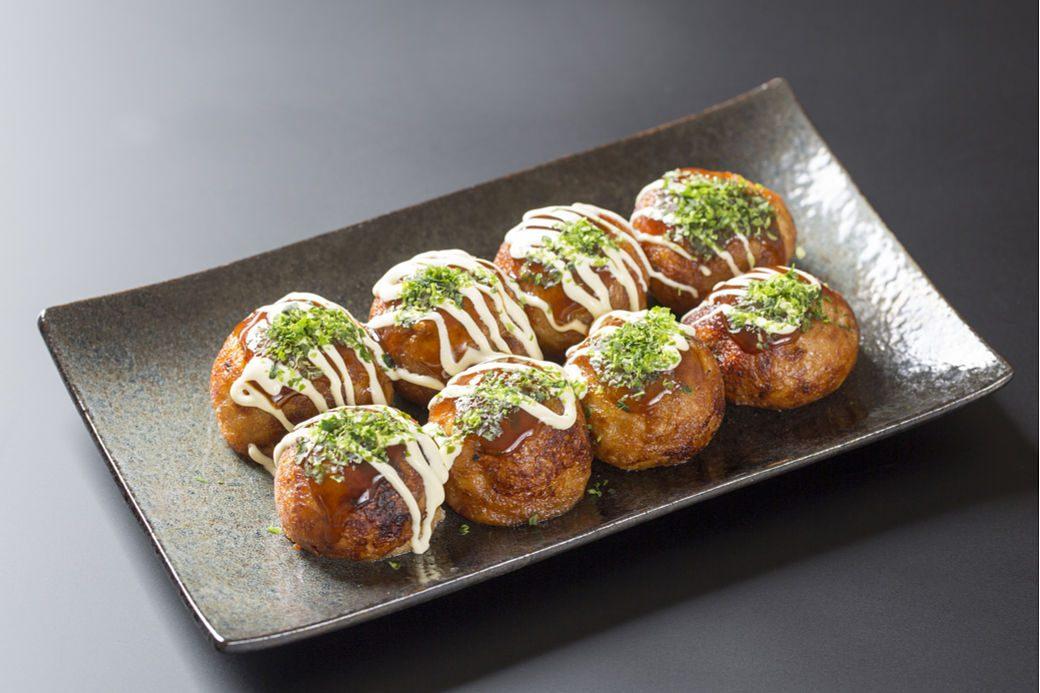 Bandeja de bolitas de pulpo o takoyaki
