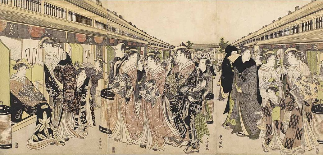 Pintura de la sociedad japonesa durante el periodo Edo
