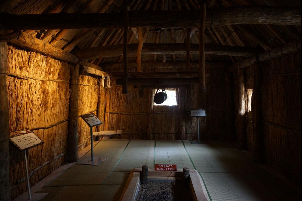 Exposición casa pueblo ainu