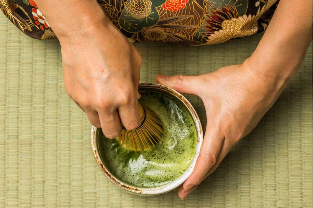 Ejecución ceremonía del té japonés