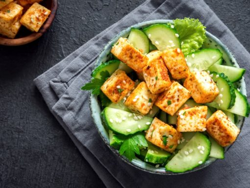 Plato de comida vegetariana