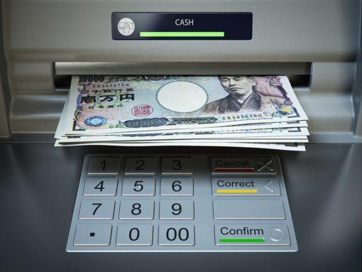 Retirar dinero en Japón