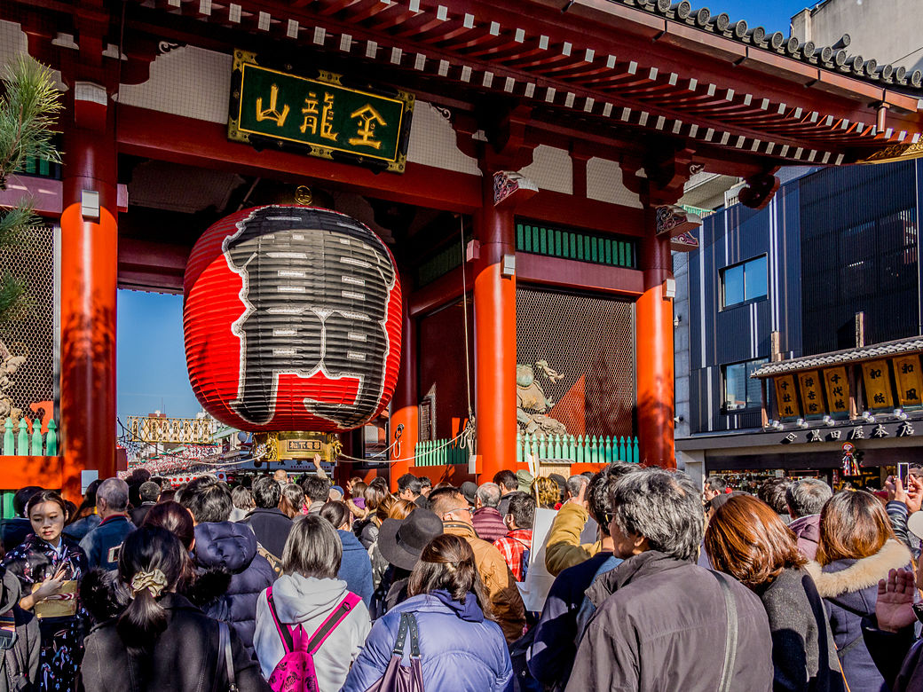 Hatsumode en el templo Sensôji de Asakusa, Tokio, Japón
