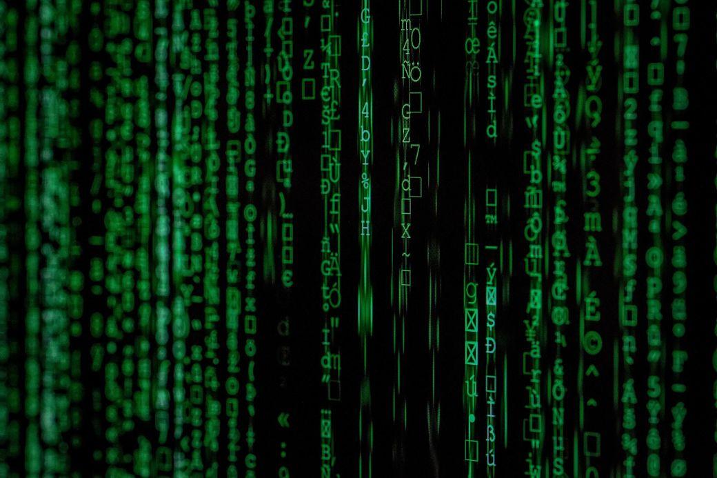 Código estilo Matrix en color verde