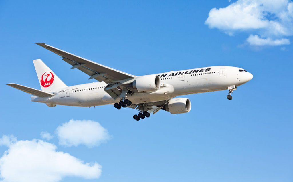 Avión de Japan Airlines.