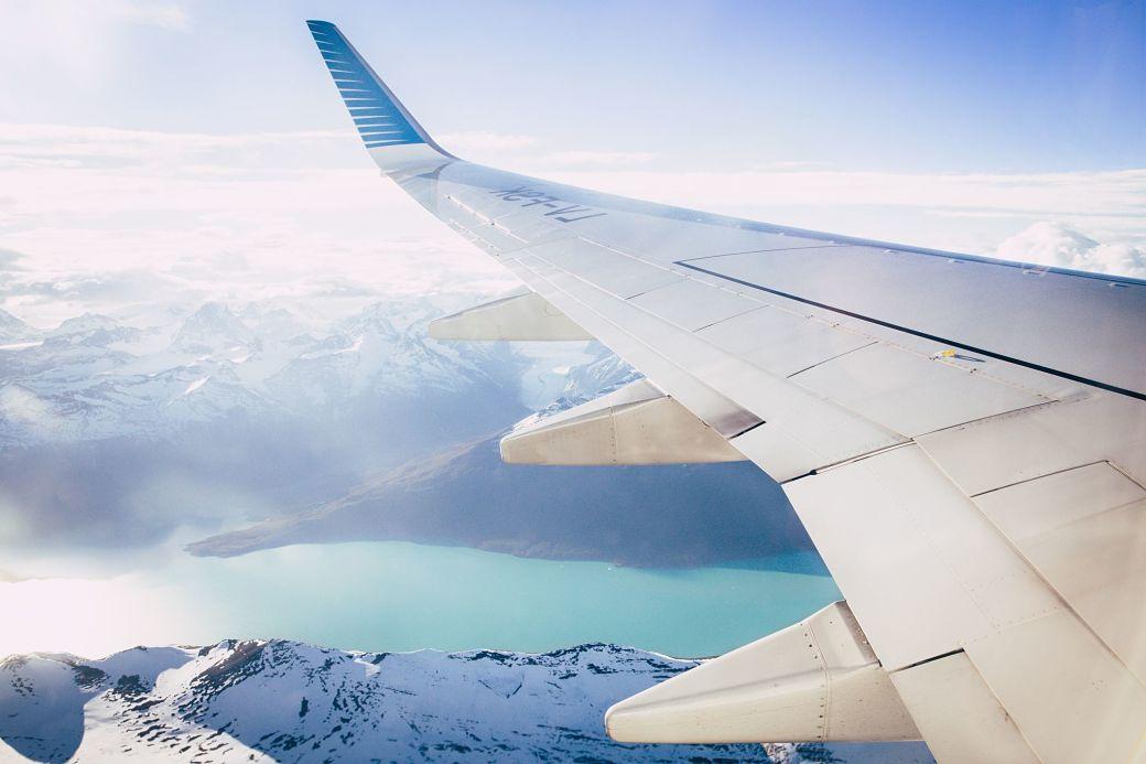 Visión de un ala de un avión