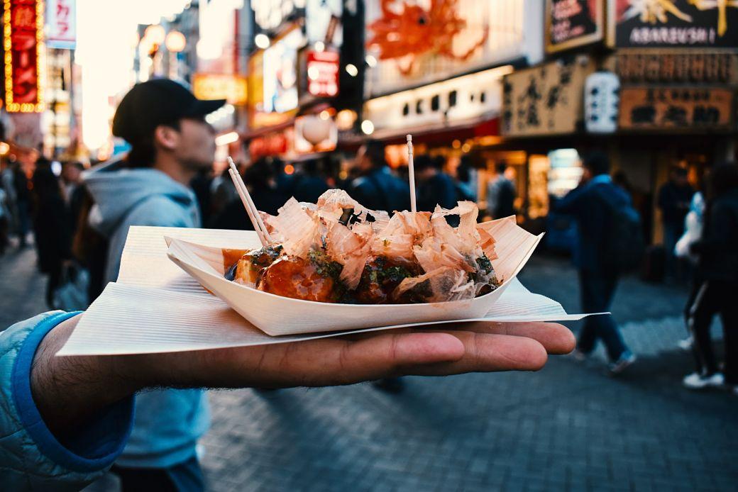 Ración de takoyaki o bolitas de pulpo