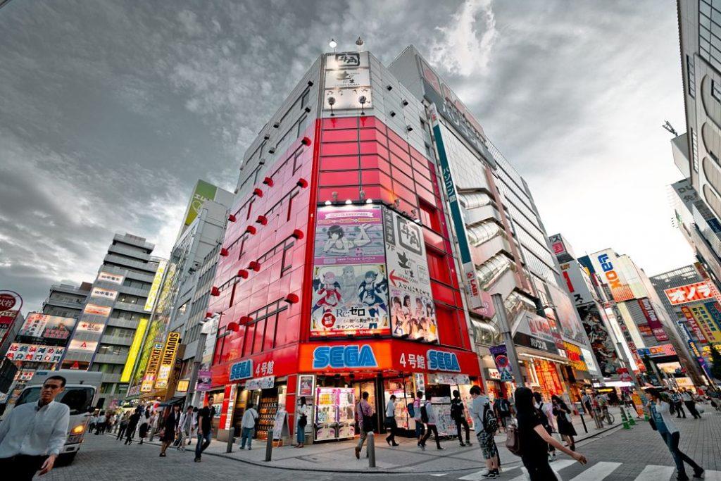 Edificio de Sega en el barrio de Akihabara