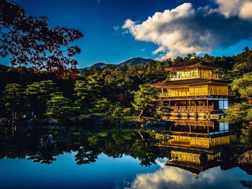 Templo Kinkakuji en Kioto, Japón