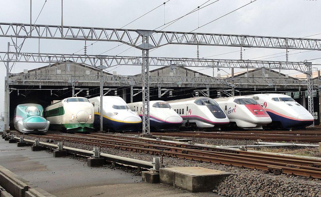 Modelos de shinkansen o tren bala en Japón